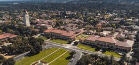 Aerial shot of Stanford campus